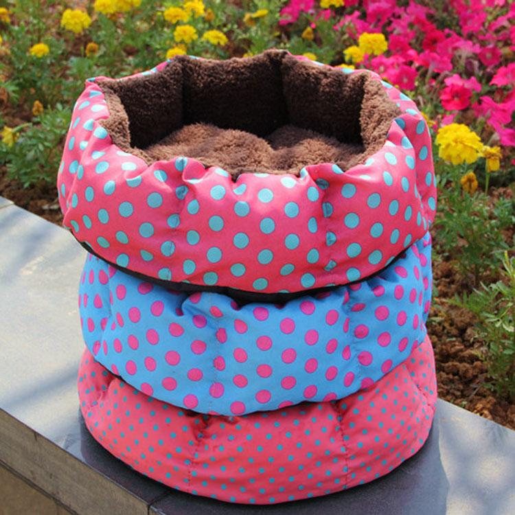 Free shipping Pet Dog Nest Puppy Cat dog Soft Bed Fleece Warm House Kennel Plush Mat mixed color