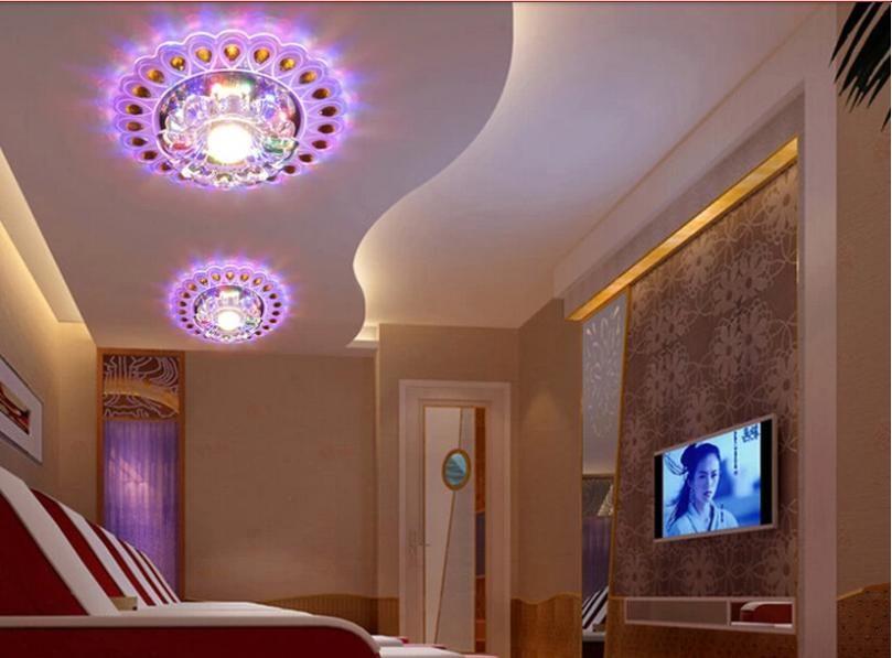 2018 Wholesale 3w Modern Brief Led Crystal Ceiling Light Bedroom Lighting  Ac200 240v Hallway Lighting Led Lamps Lustres Home Decoration Abajur From  Hymen, ...