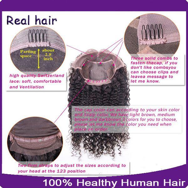 100% cheveux humains non transformés de dentelle perruques / dentelle perruques avant avec bébé cheveux 8A en vrac vague brésilienne perruque humaine pour les femmes noires