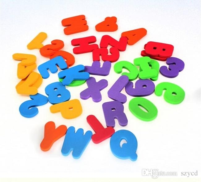 NEW Bath Tub Foam Letters Numbers Set 36pcs Children Learning Toy Educational With Retail Package