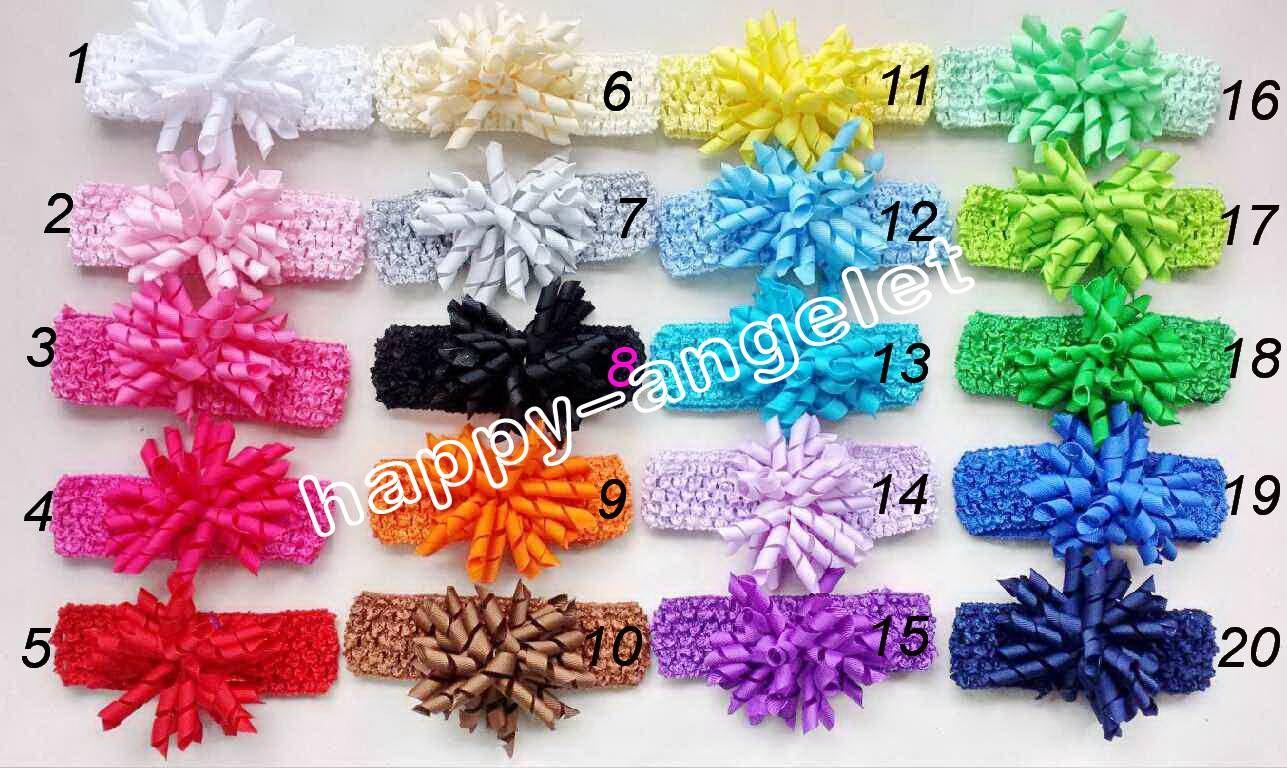 Bébé Crochet Bandeau Waffle Christening Corker Bows Fleurs cheveux clip Barrettes Fille Korker Bandeaux femmes Bandeaux de la PD011