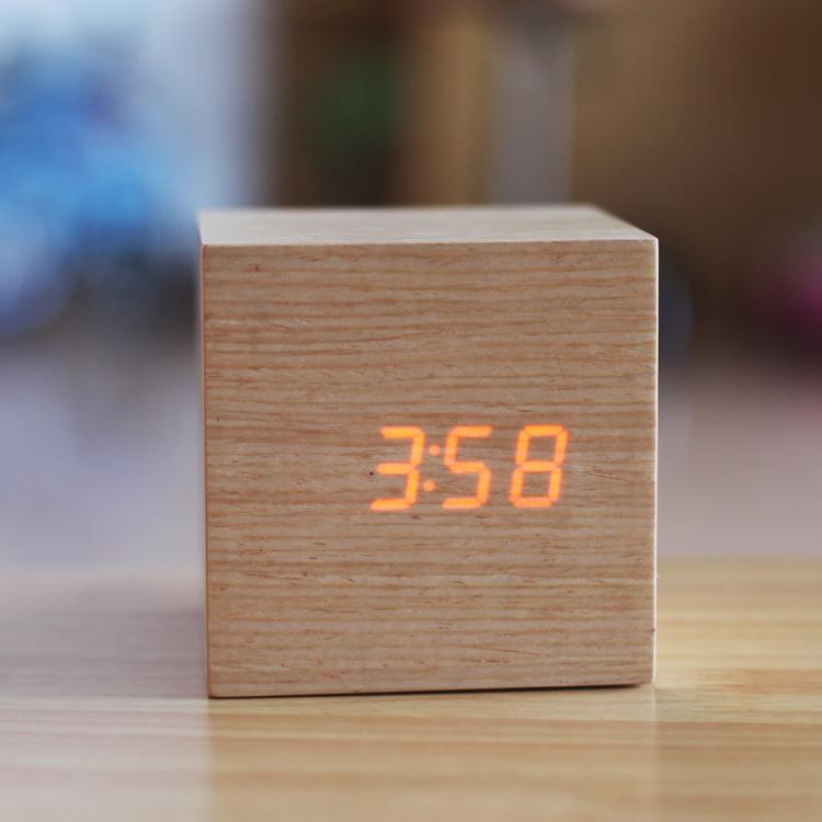 2018 Gadgets Cool,Natural Wood Clocks,Led Display,Sound Control,Office Table  Clocks,Stylish Wood Wooden Desk Alarm Clock Of Gift From Bigagung, ...