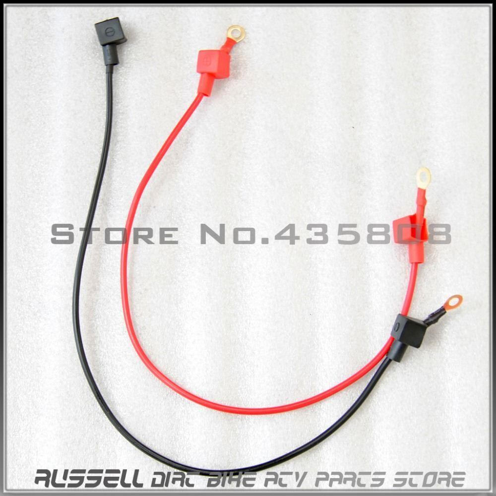 2018 Motorcycle Battery Cable Wiring Harness With Copper Conductor Bicycle For Electric Start Dirt Bike Atv 1red 1black 52cm From Kepiwell 1683