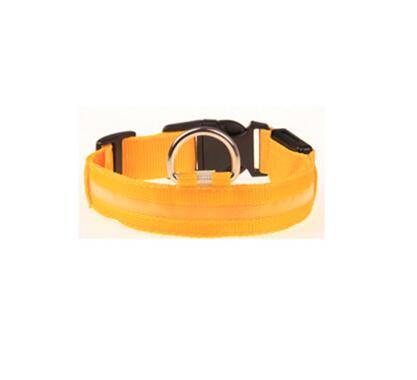 Nylon LED Collier De Chien Lumière Nuit Sécurité LED Clignotant Glow Pet Fournitures Pour Animaux De Compagnie Cat Colliers Accessoires Pour Chiens Pour Petits Chiens Collier LED