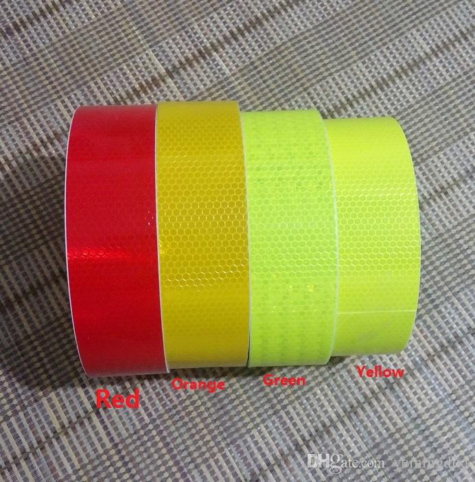 PVC Self-adhesive Reflective Traffic Signal Truck Oil Patch And Industral Reflective Warning Stickers 50M*30 Rolls