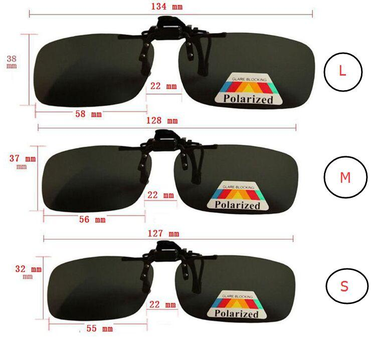 Fashion sunglasses Clip Myopia Polarized Unisex Ultra-light Lens On Sunglasses UV400 Driving goggles With packaging Free DHL FedEx