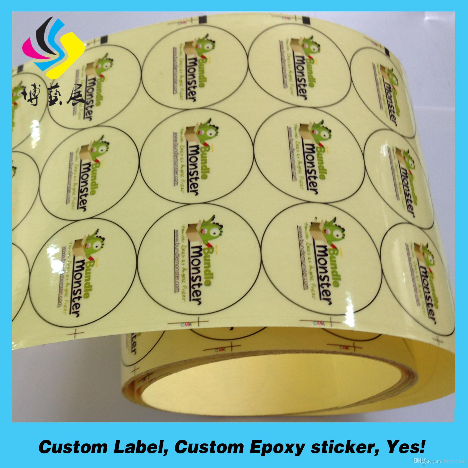 Clear Water Bottle Vinyl Sticker Full Color Printing Custom Plastic Labels Label Online With 012 Piece On Boyizhans
