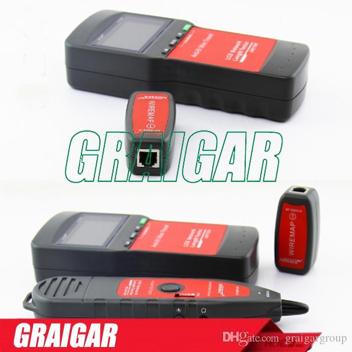 ¡Envío gratis! Actualización NOYAFA NF-8200 LCD Red LAN Cable Probador Cable Continuidad Probador inspección Wire Tracker Anti-interferencia