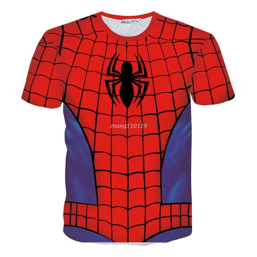 dce22f99 Tshirts Summer Mens Spiderman T Shirt Mens 3d T Shirt Casual Women/Men  Short Sleeved Shirt Harajuku Tee Shirt Plus Size White Designer T Shirts  Clever T ...