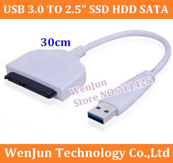 "10PCS High Quality USB 3.0 TO 2.5"" SSD HDD SATA 3 Data Cable Cord Wire For Hard Drive Internal to External Free Shipping order<$18no track"