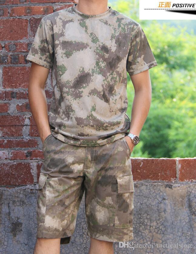 Tuta mimetica esercito tattico uniforme mimetica Tuta manica corta Gen3 G3 combattimento mezza tuta pantaloni girocollo imposta tute da uomo