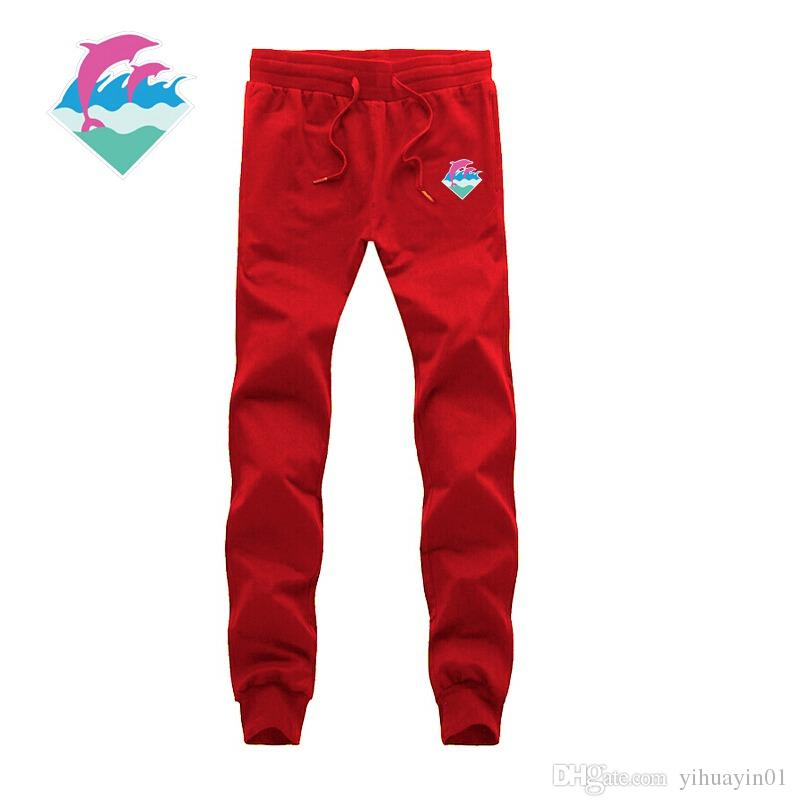 Moda Marka Erkek Spor Joggers Harem Pantolon Artı Boyutu M-3XL Koşu 2016 Rahat Erkekler Erkek Jogger Pantolon Pembe Yunus pantolon