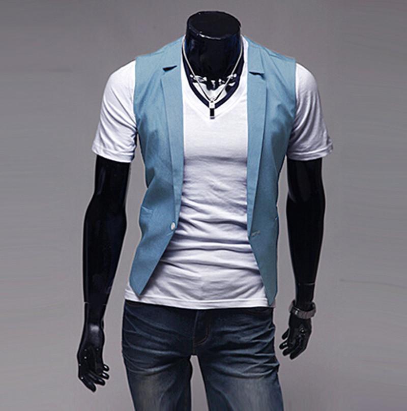 2019 England Gentleman Style Mens Suit Vest Fashion Casual