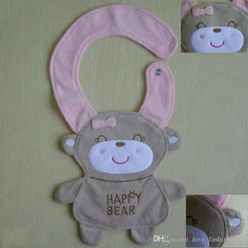 12 diseños Baberos de dibujos animados para bebés Animales BIBs Bebés y bebés Baberos de bebé Baberos Burp