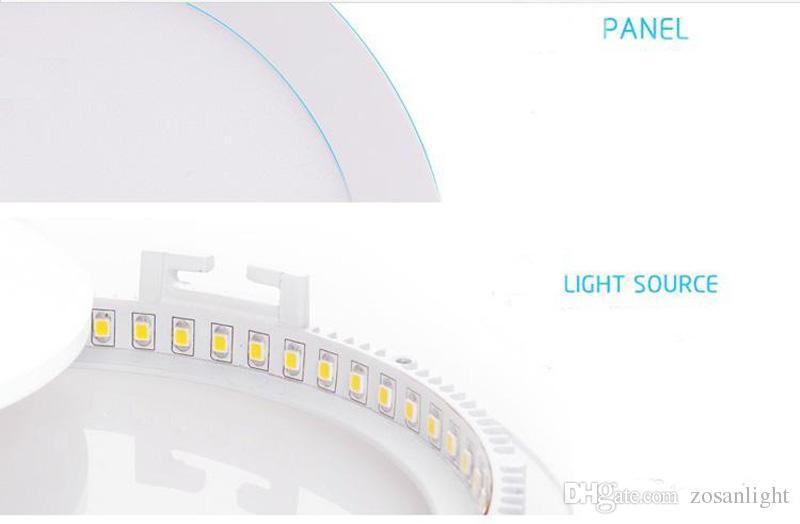 لوحة الصمام الأنوار 3W 9W 15W أضواء LED أبيض / دافئ LED SMD 2835 الإنارات الرئيسية AV85-265V جولة رقيقة جدا السقف النازل