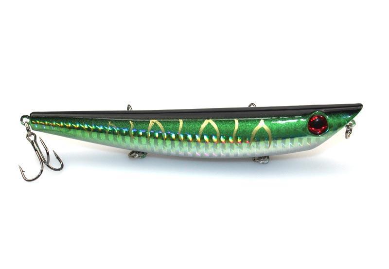 Yeux 3D Crayon leurres Pêche à la mouche leurre 120mm 18g plongée profonde ABS plastique Jerk eau salée appât poissons-nageurs Pêche Lure