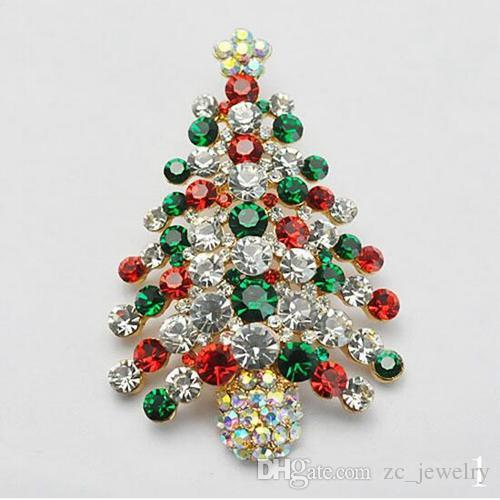 2017 Christmas Brooch Scarf Buckle Dual Diamond Brooch Christmas ...