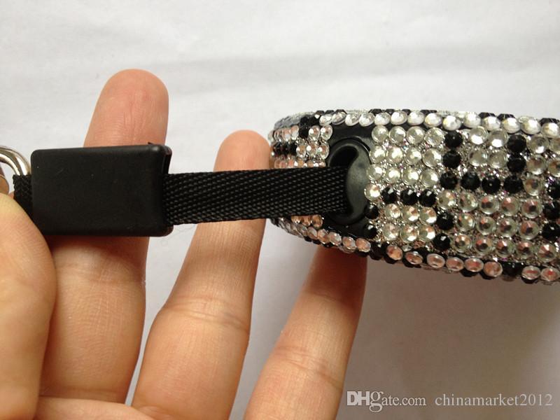 Freies Verschiffen erstreckt Leine Luxuriöser Kristall Haustier Hund Roll-Leine flexible einziehbare führt Haustier Kristall /