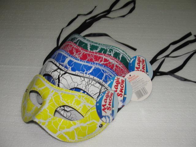 2016 half face man crack mask Hip-hop dance costume venetian masquerade party decoration Halloween mardi gras prop mix color