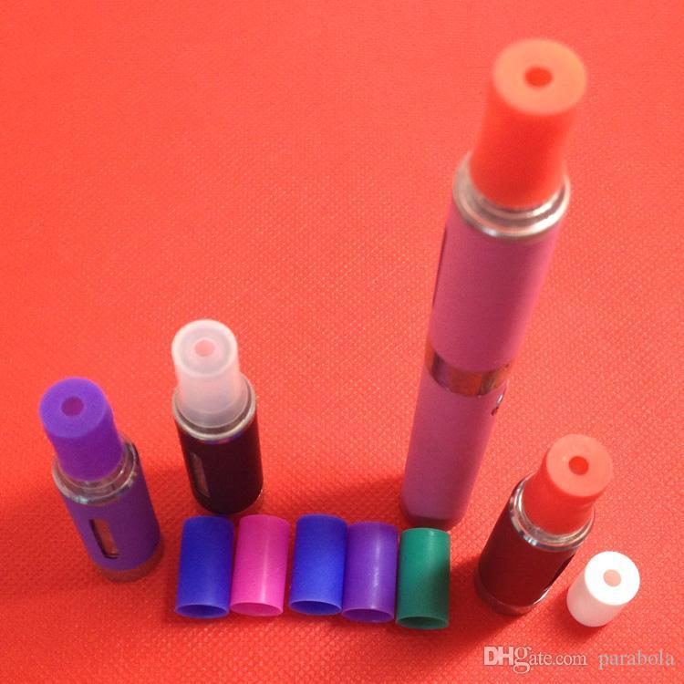 Ego ce4 / ce5 / e dicas de fumaça de cigarro vaporizador clearomizer clear atomizador tampa da ponta de gotejamento capa de silicone teste peça bucal pedaço da boca ego