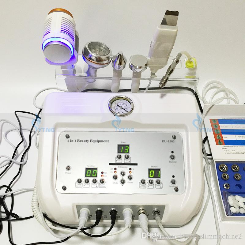 Neue Diamant Dermabrasion Ultraschall Peeling Hautverjüngung Scrubber Facelifting Photon Anti Aging Facial Beauty Machine Salon Ausrüstung