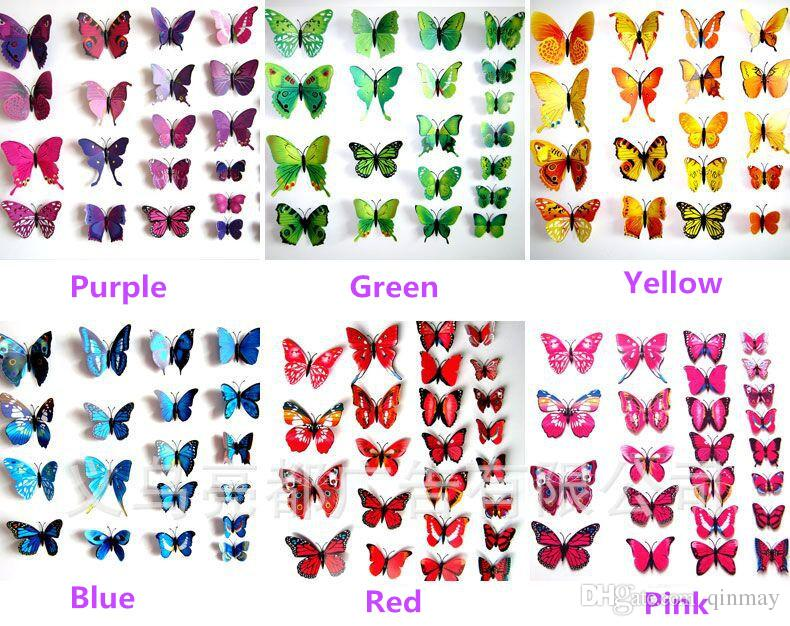 3d Butterfly Home Decoration Diy Butterflies Wall Sticker Removeable Wall  Art Sticker Stickers For Kids Walls Stickers For Room Walls From Qinmay, ... Part 63