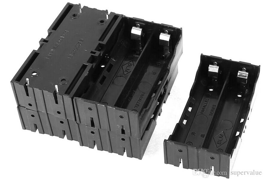 En iyi 18650 pil kutusu mod, pin ile 2 * 18650 pil tutucu kutusu, 3.7 v 18650 pil paralel tutucu