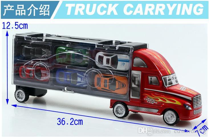 Большой размер сплава грузовик модель игрушки, 12 легковых автомобилей включены, игрушка Бен коробка, точность супер моделирование автомобилей модель для подарков, собирать, Бесплатная доставка