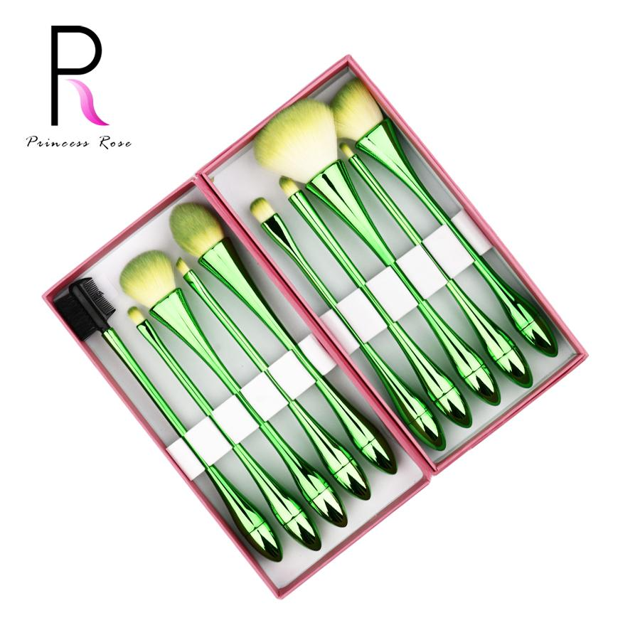 22b30067d077 Princess Rose Professional 10pcs Make Up Makeup Brushes Set Water Droplets  Small Waist Pincel Maquiagem Pinceis Kit Brochas
