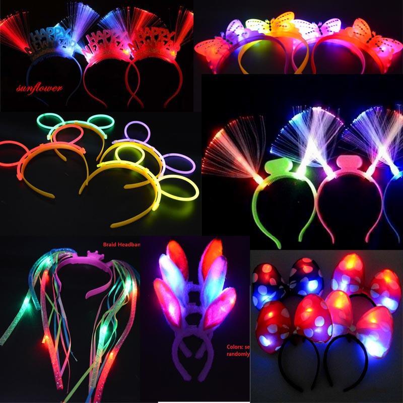 Stadium In Lights And Flashes: Party Light Up Flashing Blinking LED Headband Women Girl