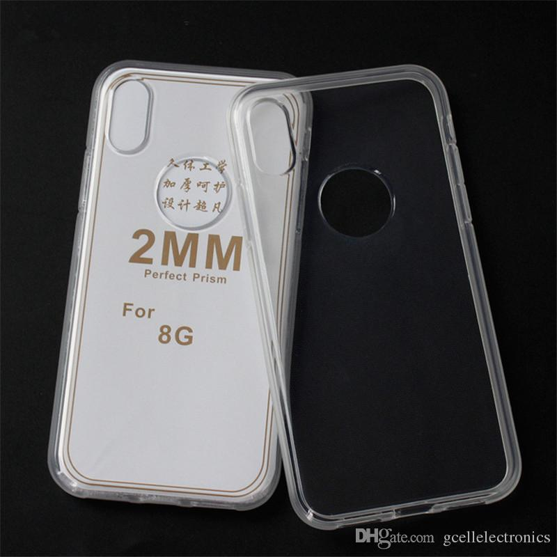 For Samsung Galaxy A01 A11 A21 S20 Iphone 11 One Plus 7 Pro Huawei P40 2mm Thick Clear TPU Gel Cell Phone Cases