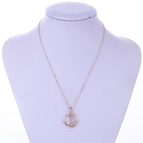 Kobiety Rose Gold Naszyjnik 2015 Plating Rose Gold Kotwice Naszyjnik Oświadczenie Długa Naszyjnik Biżuteria Dla Kobiet Alergia, NL-2342