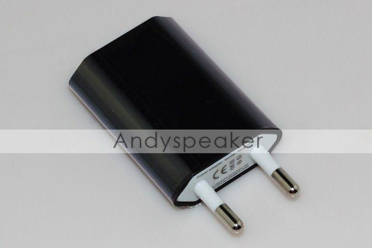 Зарядное устройство США ЕС Plug Real 5V / 1A высокое качество универсальный для iPhone мобильных телефонов 100 шт. / лот