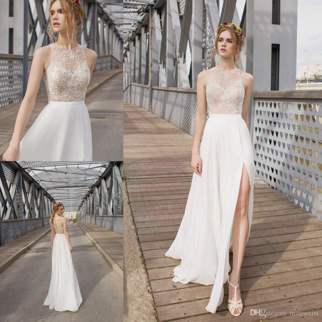 Anna Campbell Wedding Gown: Discount 2016 Anna Campbell Wedding Dresses Side Split