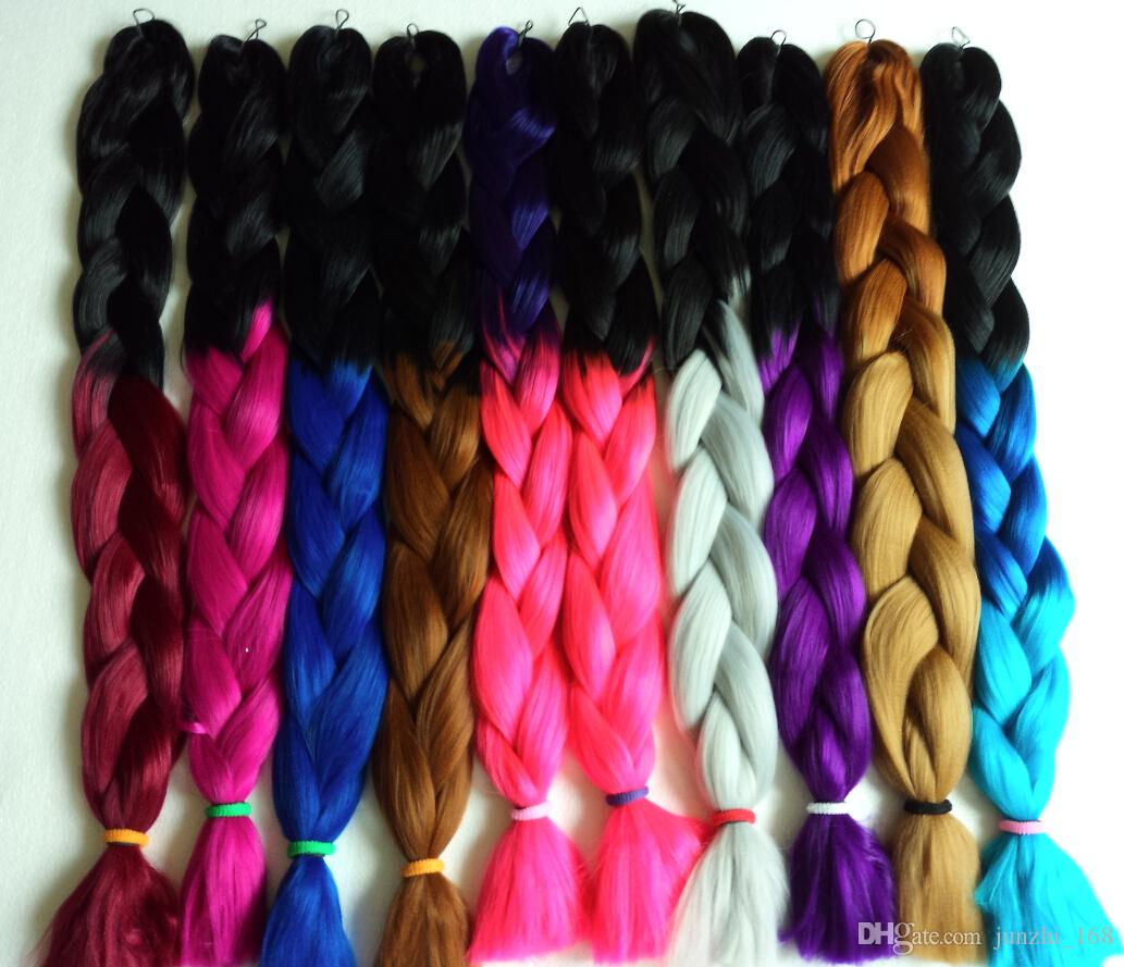 2015 Hot X Pression Ombre Braid Synthetic Hair Extensions 100