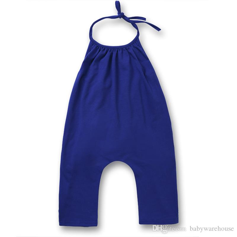 Moda para bebés Ropa para niños Ropa para niños Niñas Correa Mameluco de algodón Traje de verano Traje para bebés Ropa para niños pequeños Ropa de una pieza Trajes