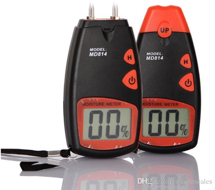 Medidor de humedad para madera digital Proster Handheld LCD Moisture Testers Meters 2 pins 4 pins MD814 812 battery included