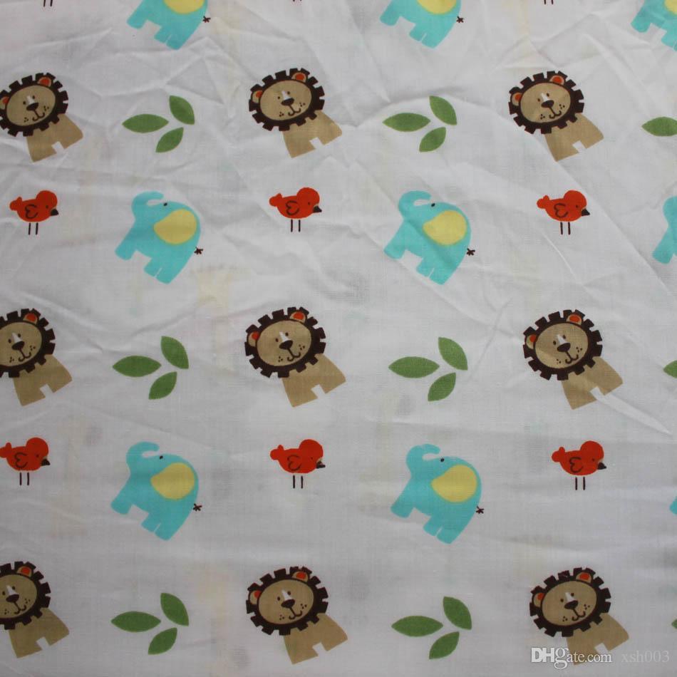 Broderie 3D lion éléphant cerf arbre Literie bébé garçon ensemble de literie lit de bébé couette bébé Quilt Bumper Fitted Sheet drap de lit literie ensemble