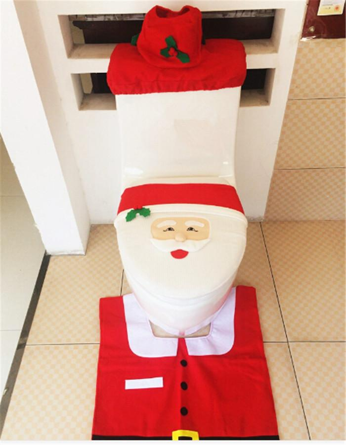 cd6295ab hot sale best price Christmas decoration Santa Toilet Seat Cover and Rug  Set Contour rug and горячая распродажа лучшая цена ...