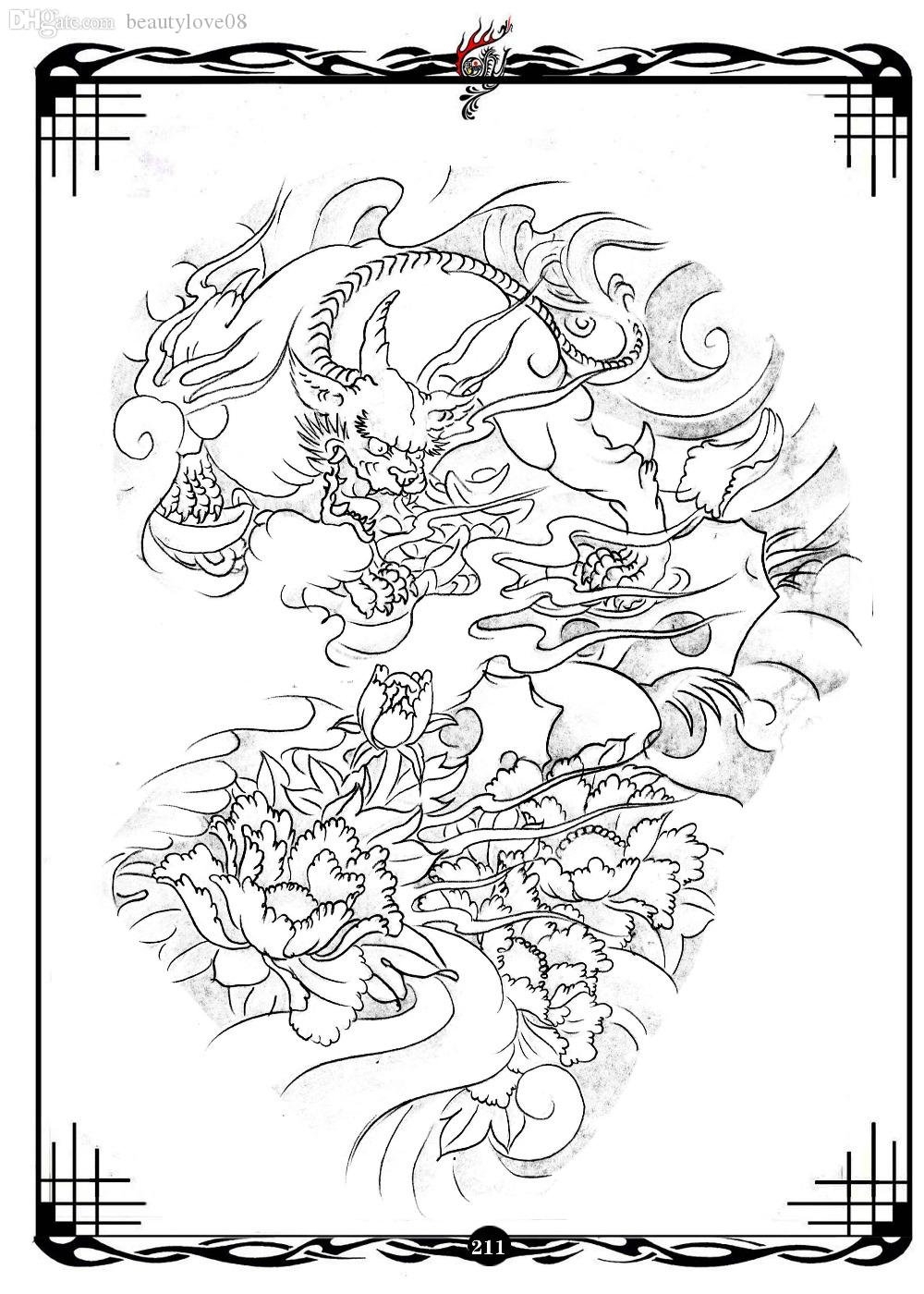 wholesale pdf format tattoo book traditional tattoo 49 pgs flower pattern kind of skull tattoo flash tattoo designs sketch airbrush face painting stencils - Tattoo Coloring Book Pdf