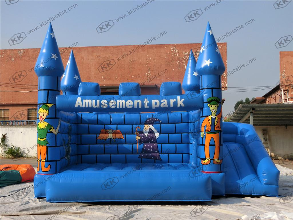 2017 indoor children air jumper inflatable blue castle bouncer