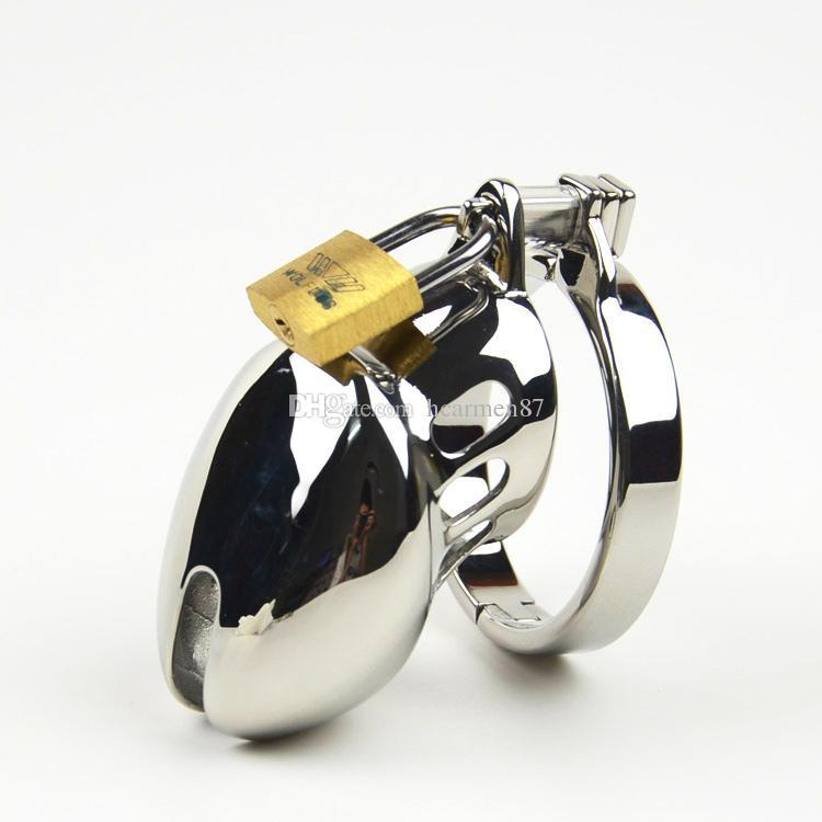 Nuevo Pequeño Dispositivo de Castidad Chastity Metal Spikes Acero Inoxidable Cock Cage Chastity Belt Cock Ring BDSM Juguetes Bondage Productos Sexuales Para Hombres
