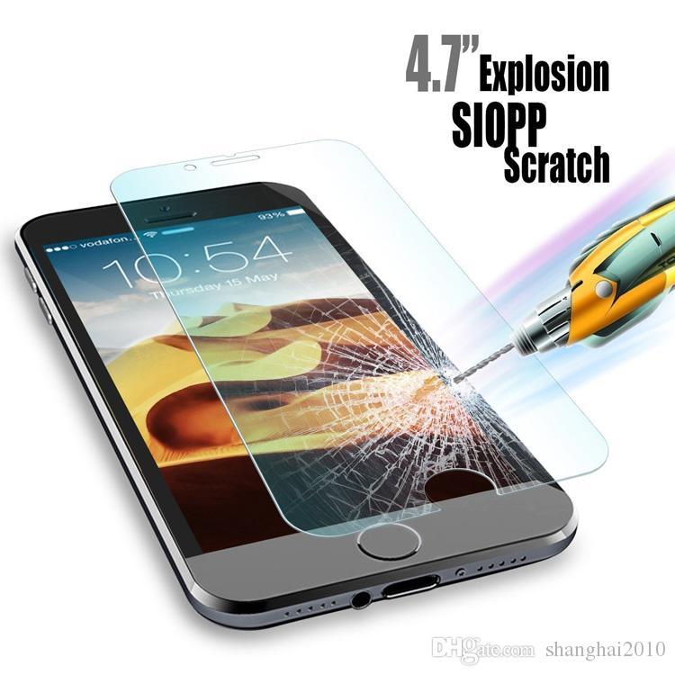 Apple İzle Ekran Koruyucu Film Temperli Cam Ekran Için Galaxy S6 Için iPhone 6 6 artı iphone 5 S Samsung S5 S4 Not 4 5 retailbox 10 p