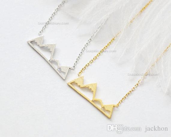 милый снежный горный хребет ожерелья простой современный минималистский ожерелье природа Париж пейзаж Ожерелье для женщин