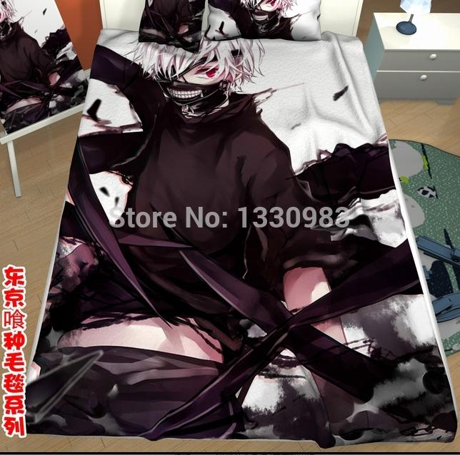 Wholesale Anime Bed Sheet Tokyo Ghoul Animate Blanket Kaneki  Ken  2 Size 200cmX150cm. Best Wholesale Anime Bed Sheet Tokyo Ghoul Animate Blanket Kaneki