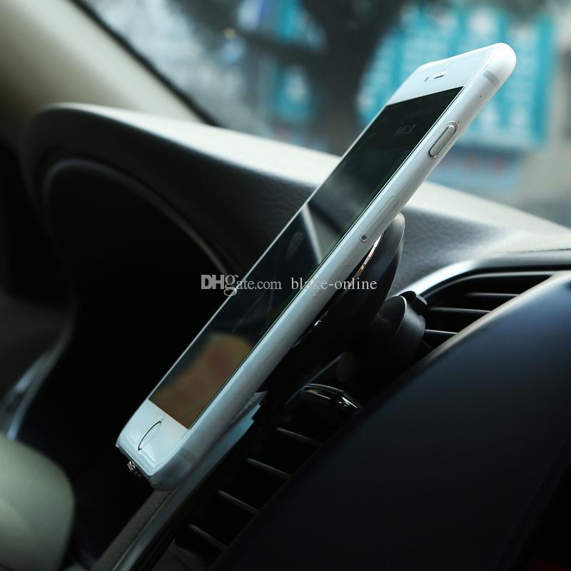 5W Coche inalámbrico QI Cargador inalámbrico Soporte magnético Soporte de ventilación de aire para iPhone 8 X XS Max Samsung Galaxy S6 S7 S8 Plus