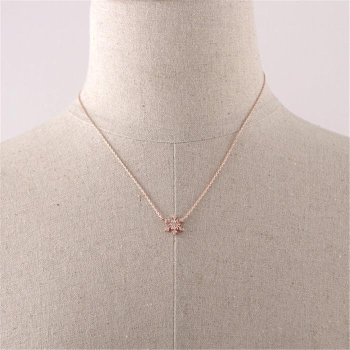 Кристалл кулон ожерелья Beautifu Снежинка снежинка Европа и Америка популярные ожерелье 2016 новое прибытие для Sale21