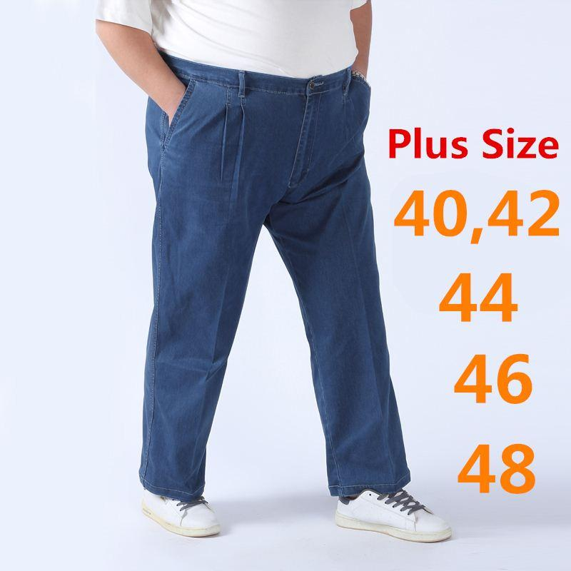 2017 Jeans Men Pants Plus Size 40 42 44 46 48 Osklen Designer ...