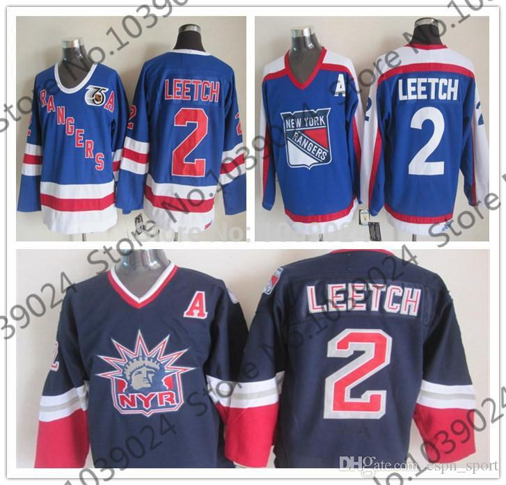e65d649c5 2019 2015 2 BRIAN LEETCH Jersey 1996 97 Alternate Lady Liberty New York  Rangers 1977 Vintage Jersey,75 Anniversary Ccm Ice Hockey Jersey From  Espn_sport, ...