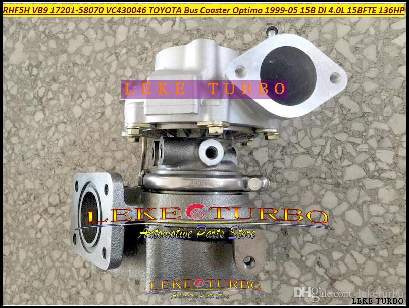 RHF5H VB9 17201-58070 1720158070 VC430046 Turbo Turbocharger For TOYOTA Bus Coaster Optimo 1999-2005 15B DI 4.0L EURO 3;15BFTE 4.1L 136HP